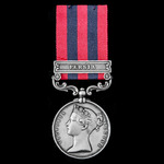 ​  A scarce India General Service Medal 1854-1895, 1 Clasp: Persia, awarded to Major later Colone...