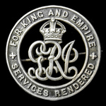 Silver War Badge, reverse numbered: '329189', awarded to Private C. Wallis, 59th Provisional Comp...
