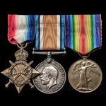 The superb Great War Gallipoli operations 1914-1915 trio awarded to Chief Petty Officer subsequen...