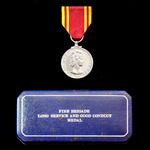 Fire Brigade Long Service Medal, EIIR bust, cased, awarded to Leading Fireman Frank C. White, Uni...