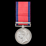 Military General Service Medal 1793-1814, 1 Clasp: Corunna, awarded to Private Samuel Hewitt,  1s...