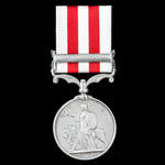 Indian Mutiny Medal 1857-1859, 1 Clasp: Lucknow, awarded to Private James Campbell, 2nd Dragoon G...