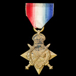 1914-1915 Star, awarded to Lance Corporal J.A. Silver, 2nd Battalion, Royal Scots Fusiliers, who ...