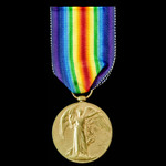 Victory Medal awarded to Private J.G. Calow, Army Service Corps, who saw service in a Mechanical ...