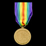 Victory Medal, awarded to Gunner D.W. Gray, Royal Garrison Artillery.