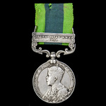 India General Service Medal 1908-1935, 1 Clasp: Afghanistan N.W.F. 1919, awarded to Drummer J.H. ...