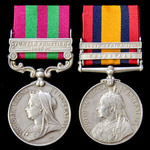 India Punjab Frontier 1897 to 1898 and South Africa Boer War pair awarded to Private P.T. Baldwin...