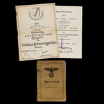 Germany – Third Reich: An Operation Citadel Casualty's Soldbuch, Commemorative Certificate and Bl...