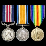 A Great War Western Front Final Advance 1918 Military Medal group awarded to Private W. Stirling,...