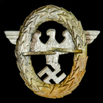 Germany – Third Reich: Police Visor Cap Eagle, 1st model, two prongs to reverse