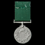 Colonial Auxiliary Forces Long Service and Good Conduct Medal, GVR Fm. bust, awarded to Sergeant ...