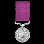   An Army Long Service and Good Conduct Medal, Victoria small letter reverse, impressed naming, ...