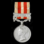   An Indian Mutiny Medal 1857-1858, 1 Clasp: Lucknow, awarded to Private Robert Voizey, 97th Ear...