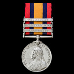 Queen's South Africa Medal 1899-1902, 3 Clasps: Cape Colony, Orange Free State, Transvaal, awarde...