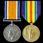 Great War Battle of Aubers Ridge Casualty pair awarded to Rifleman F. Soan, 4th Battalion, Rifle ...