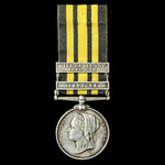 An East and West Africa Medal 1887-1900, 2 Clasps: 1897-98, Sierra Leone 1898-99, awarded to Priv...