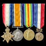 Great War Western Front rare confirmed Medal of Honour of Foreign Affairs for Acts of Courage in ...
