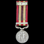 India General Service Medal 1895-1902, 1 Clasp: Relief of Chitral 1895, awarded to Daffadar Mahmu...