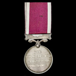 Regular Army Long Service and Good Conduct Medal, GVI 1st type bust, awarded to Gunner F.S. Badco...