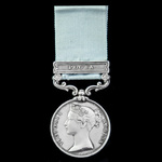 The very rare Army of India Medal 1793-1826, short hyphen reverse, 1 Clasp: Poona, officially imp...