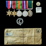 Second World War Burma campaign and Territorial long service group awarded to Major J.F. Davis, R...