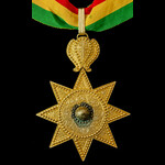 Ethiopia, Imperial Order of the Star of Ethiopia, Commander's neck badge in gilt.Imperial Order o...