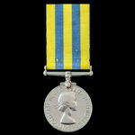 Korea Medal 1950-1953, 1st type obverse, awarded to Fusilier T. Johnson, Royal Northumberland Fus...