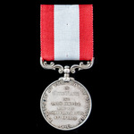 Rocket Life Saving Apparatus Volunteer Long Service Medal, GVR bust, with Rocket Apparatus revers...