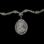 King's Medal for Native Chiefs, GVR Crowned head larger bust, 2nd Class in Silver, neck badge com...