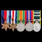 Second World War North West Europe Campaign Territorial long service and two additional award bar...