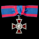 Royal Red Cross 2nd Class, Associate, A.R.R.C., GVI 1st type cypher issue, silver and enamel, rev...