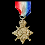 1914-1915 Star, awarded to Private H. Wood, The Queen's Royal West Surrey Regiment, who was prese...