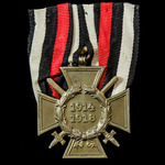 Germany - Imperial: Honour Cross 1914-1918 with Swords for Combatants, reverse makers marked: 'O.5'.