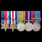 Second World War North West Europe and Colonial Police Service Malayan Emergency group awarded to...