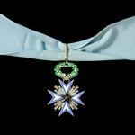   France / Benin - French Colonial: Order of the Black Star, Commander, neck badge, silver and e...