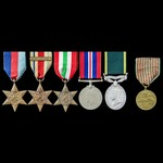 Second World War North Africa 8th Army and Italy campaign and Efficiency Medal group awarded to T...