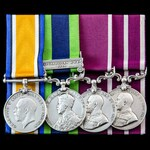 Great War India Service Army Meritorious Service Medal and Third Afghanistan War 1919 and long se...