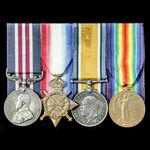 A Canadian Great War Battle of Amiens 1918 Military Medal group awarded to Sergeant E. Dawson, 4t...