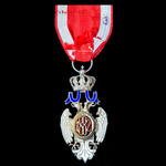 Serbia: Order of the White Eagle without Swords, 5th Class, Civil Merit Division, silver-gilt and...