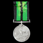 Ashanti Medal 1900, silver issue, 2nd type bust, no clasp, awarded to Private Mogoreta, 2nd Centr...