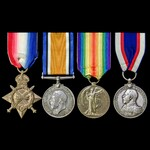 Great War West Africa operations and Cameroon 1914 long service group awarded to Stoker Petty Off...