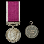 Regular Army Long Service and Good Conduct Medal, GVI 1st type bust, awarded to Corporal D. Burke...