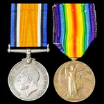 Great War Pair awarded to Private F.F. Ruffle, The Queen's (Royal West Surrey Regiment), later 57...
