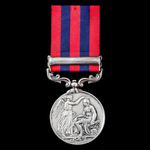 India General Service Medal 1854-1895, 1 Clasp: Persia, awarded to Private William Bround, 64th (...