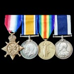 Great War Northern Patrol, Dover Patrol and destroyer operations long service group awarded to Le...