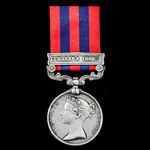 The extremely rare to the regiment India General Service Medal 1854-1895, 1 Clasp: Hazara 1888, a...