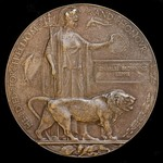 A Great War German March Offensive Officer Casualty Memorial Plaque issued in memory of Charles B...