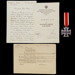 Germany – Third Reich: An Interesting Posthumous Battle of Velikiye Luki Iron Cross 2nd Class and...