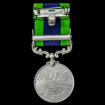 An India General Service Medal 1908-1935, 1 Clasp: Waziristan 1921-24, awarded to Private T. Petr...