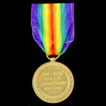 Victory Medal awarded to Private J. Bishop, Northamptonshire Regiment later Labour Corps.